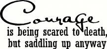 Courage to Ride vinyl decal