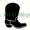 Cowboy Boot vinyl decal