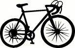 cycling bike vinyl decal