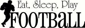 Eat Sleep Football vinyl decal