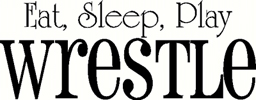 eat sleep wrestle vinyl decal