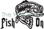 Fish On - Bass vinyl decal