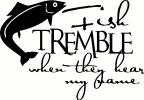 Fish Tremble vinyl decal