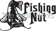 Fishing Nut vinyl decal