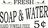 Soap and Water vinyl decal