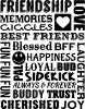 Friendship Subway vinyl decal