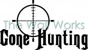 Gone Hunting Scope vinyl decal
