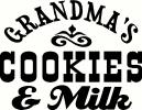 Grandma's Milk & Cookies vinyl decal