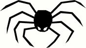 Halloween Spider vinyl decal