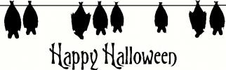 Halloween Hanging Bats vinyl decal