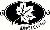 Happy Fall Y'all Leaf vinyl decal