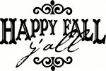 Happy Fall Y'all vinyl decal