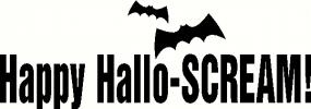Happy-Hallo-Scream vinyl decal