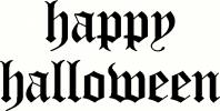 Happy Halloween (6) vinyl decal