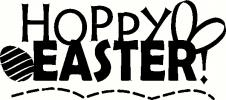 hoppy easter vinyl decal