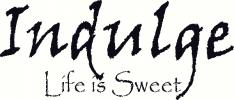 indulge - life is sweet vinyl decal