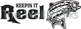 Keepin It Reel - Trout vinyl decal
