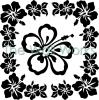 Kitchenaid Hawaiian Flowers vinyl decal