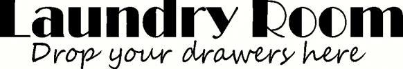 laundry: drop your drawers vinyl decal