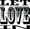 Let Love In vinyl decal