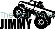 Monster Truck and Name vinyl decal