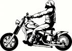 motorcycle biker vinyl decal