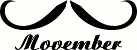 Movember - Captain Hook vinyl decal