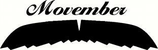 Movember - Coach Mustache vinyl decal