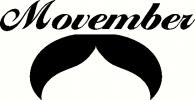 Movember - Droopy Stache vinyl decal