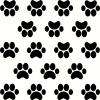 Paw Print Kitchenaid vinyl decal