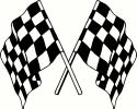 racing flags (1) vinyl decal