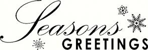 Seasons Greetings vinyl decal
