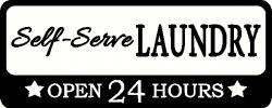 Self-Serve Laundry Room vinyl decal