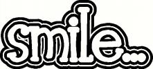 Smile vinyl decal