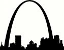 St. Louis Silhouette vinyl decal