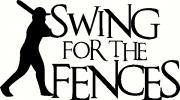 swing for the fences vinyl decal