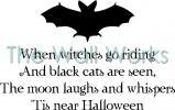 Tis Near Halloween vinyl decal