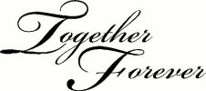 Together Forever vinyl decal