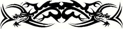 tribal dragon (1) vinyl decal