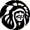 tribal indian chief vinyl decal
