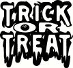 Trick-or-Treat (2) vinyl decal