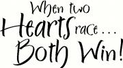 Two Hearts Race vinyl decal