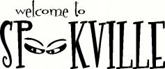 Welcome to Spookville (1) vinyl decal