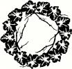 Wreath with Branches vinyl decal