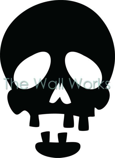 Toothless Skull vinyl decal