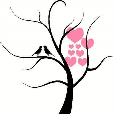 Tree with Hearts vinyl decal