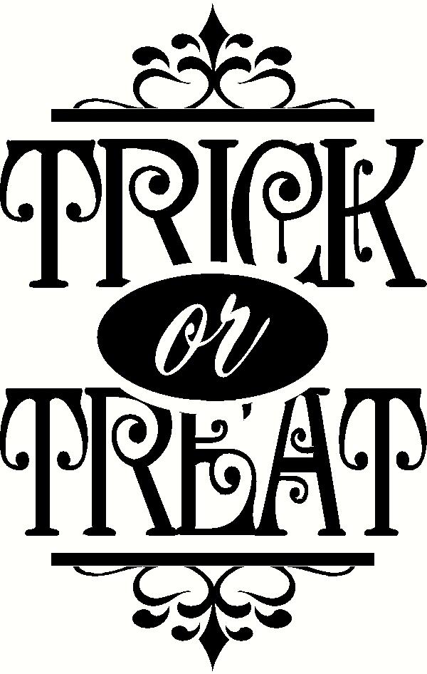 Trick or Treat (3) vinyl decal