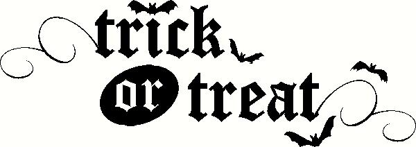 Trick or Treat (4) vinyl decal