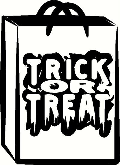 Trick-or-Treat Bag vinyl decal