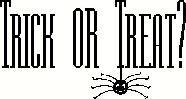 Trick-or-Treat Spider vinyl decal
